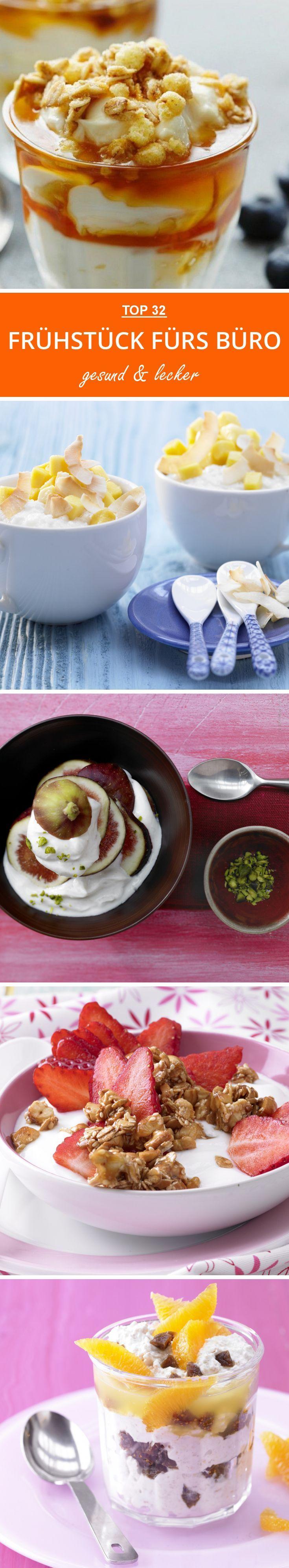 Frühstück - Rezepte fürs Büro. Die Top 32 smarten Frühstücksrezepte von Porridge bis Knuspermüsli.