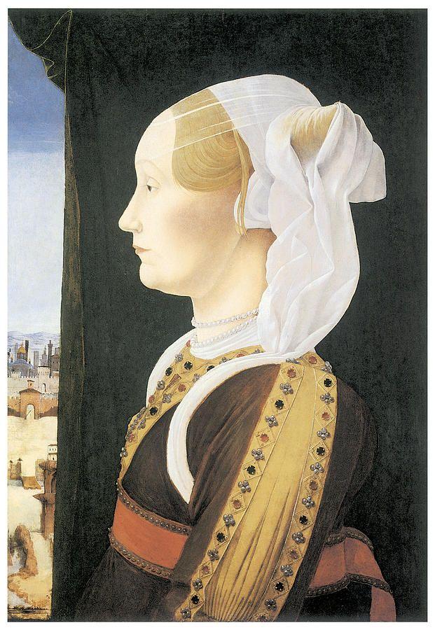 Ginevra Sforza Bentivoglio Painting  - Ginevra Sforza Bentivoglio Fine Art Print