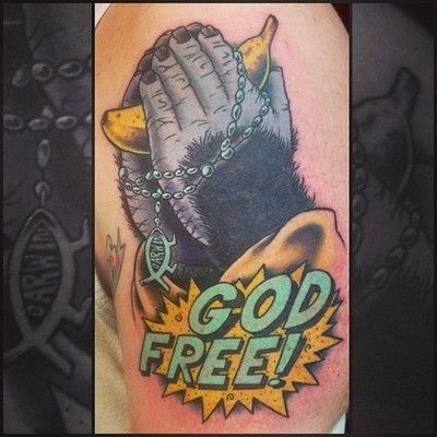 Fun evolution/atheism piece i did earlier this week on a friend.