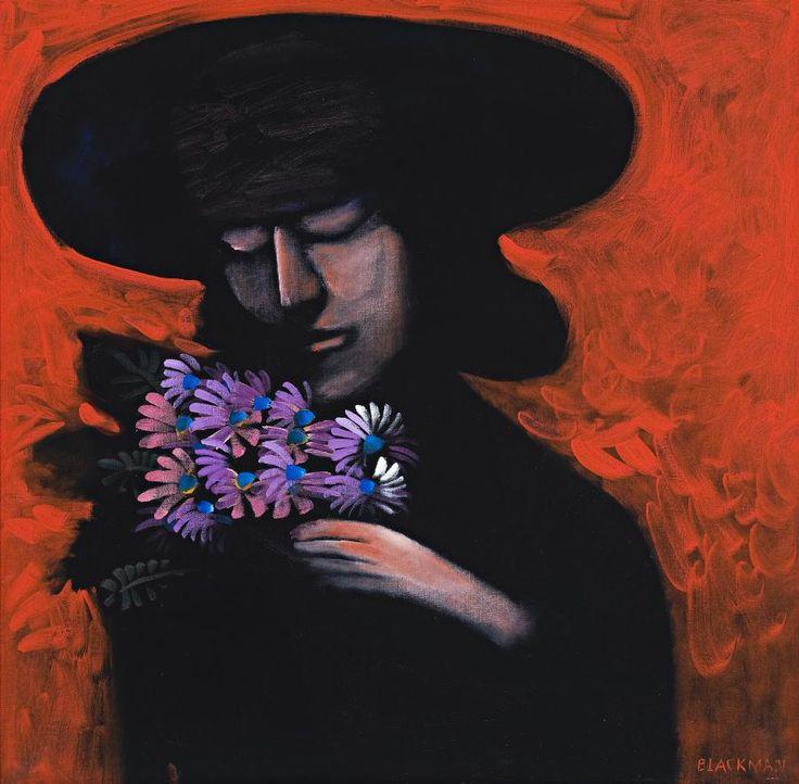 Charles Blackman (born 1928) The Bouquet, c1970 oil on canvas 84.0 x 84.0 cm