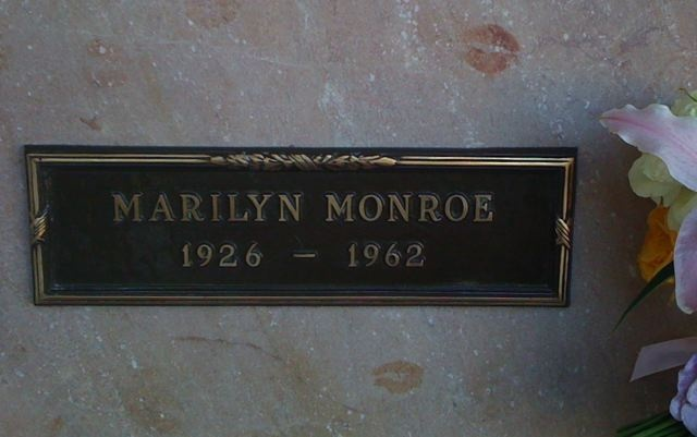 Marilyn Monroe's burial place at Hollywood Cemetery in LA.