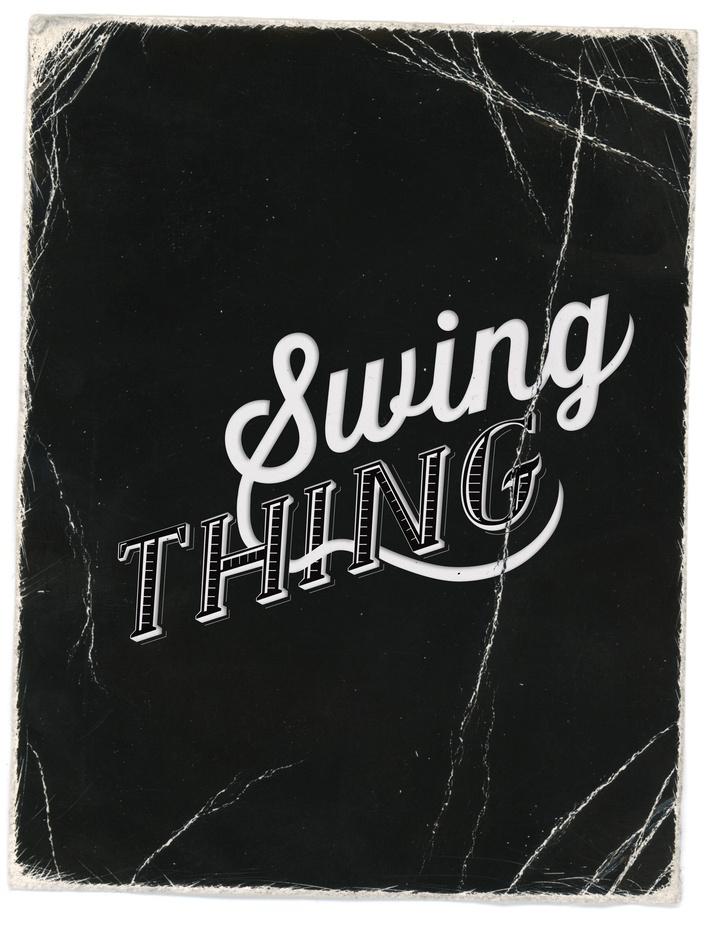 Logo sketch / Swing Thing / Electro Swing Band by Kika Novosadova, via Behance
