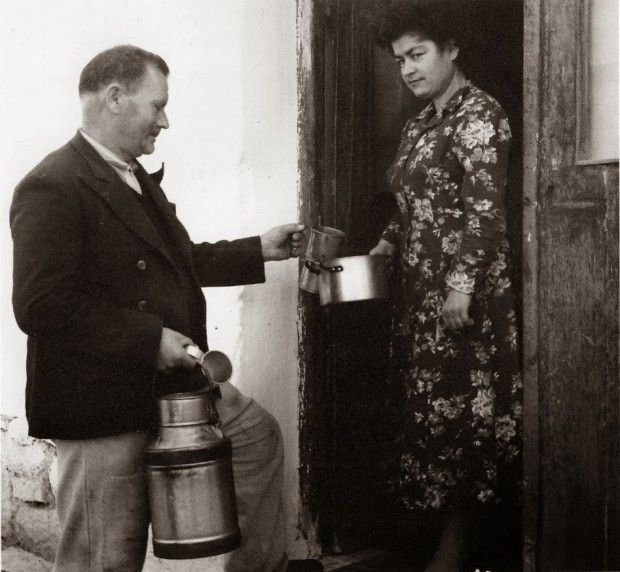 The traditional morning milkman in Greece '50s | #greekfood #greeklife #loveGreece #visitGreece