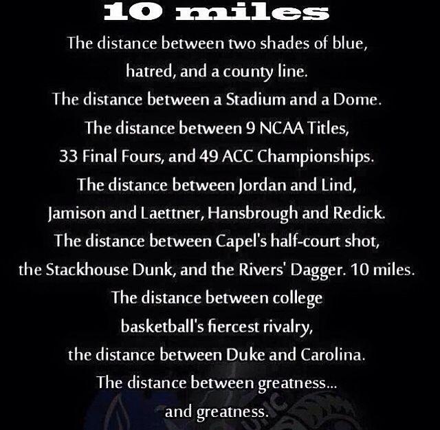 Duke/UNC rivalry