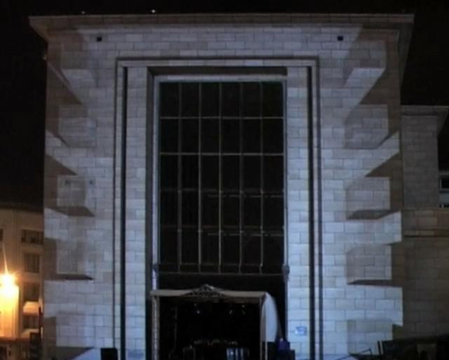 AntiVJ & Crea Composite: Nuit Blanche Bruxelles by Joanie Lemercier (AntiVJ). Son et Lumiere performance produced by AntiVJ and Crea Composite