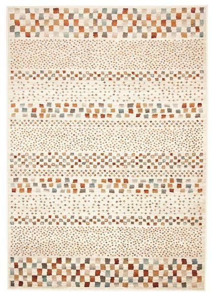 This beautiful new rug to our collection features earthy tones and eye catching traditional patterning: Caliente 321 Beige Earth Multi Coloured Patterned Traditional Rug
