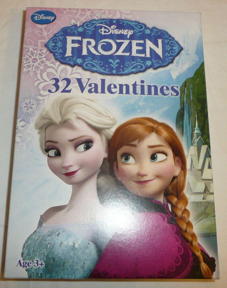 FROZEN Set of 32 Valentine's Day Cards Disney Princess 8 Designs Anna Elsa Olaf #Disney