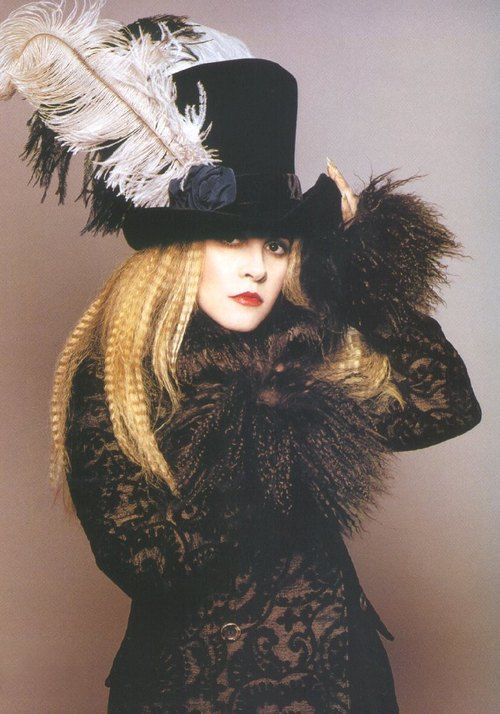 Stevie Nicks is my own personal style maven. I adore her mix of goth and witchy, with just a dash of the bohemian thrown in.
