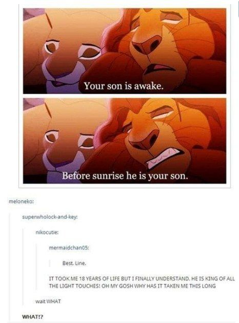 There is much more to this than just a funny line.   Community Post: 9 Clever Fan Theories In Disney Movies That Tumblr Users Noticed