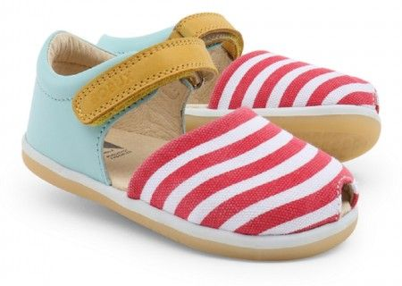 Bobux Twist And Spin Aqua Red Sandals - Bobux - Little Wanderers