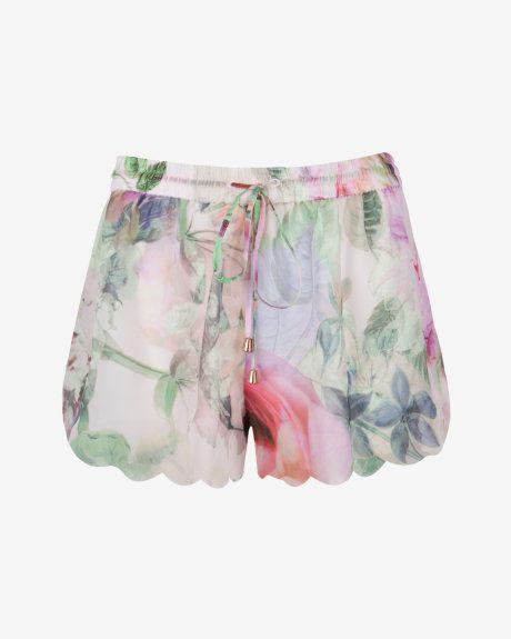 Pure peony shorts - Dusky Pink   Swimwear & Beachwear   Ted Baker