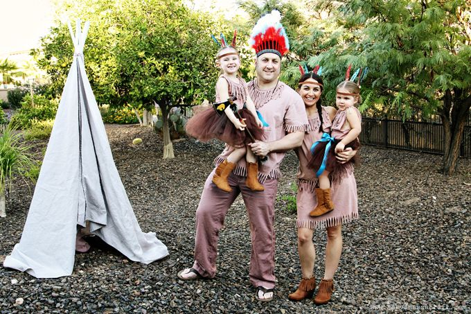 (20 crafty days of halloween) no-sew indian costumes - super cute idea for easy costumes