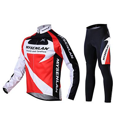 MYSENLAN Men's Fall and Winter Style Cycling Suits with Dual Side Fleece – EUR € 49.49