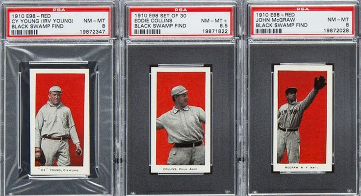 1910 E-98 baseball cards from the Black Swamp Find reported July 2012