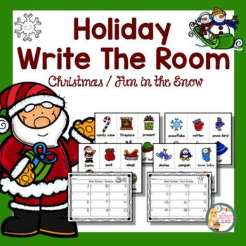 FREE Christmas Activities  This Christmas write the room resource includes two sets.  Each has 12 cards and a recording sheet.  Great activity to get your students up and moving during this busy season.My freebie to you to help make the holiday season a little easier!!!I'd love to hear how you like this freebie so please come back and leave feedback!!!***************************************************************************Related Resources:December Math Centers for KindergartenChristmas…