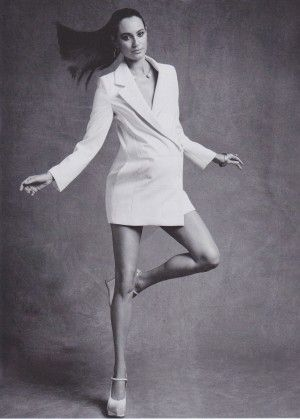 Emma Heming in black and white Woman's editorial