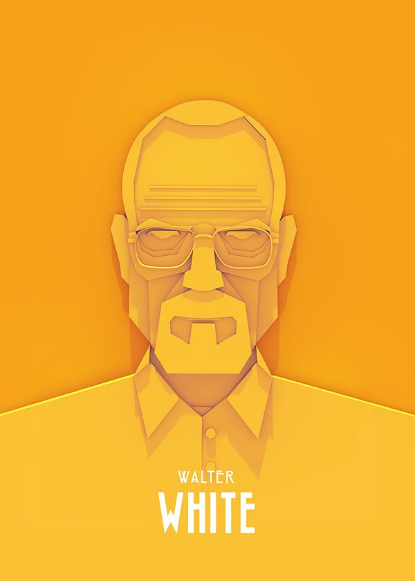 Walter White - Great Vector workAriel Ratajczak, Character Posters, Picture-Black Posters, Breakingbad, Tv Character, Illustration, Sherlock Holmes, Breaking Bad, Walter White