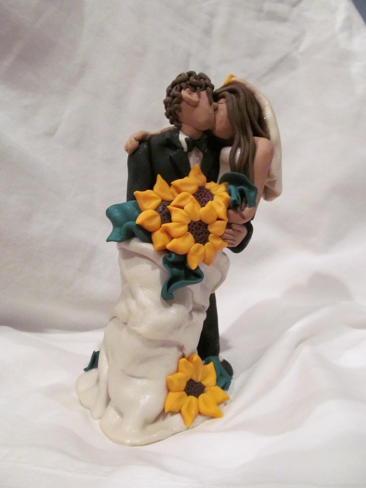 Sierra and Dillon, Sunflower Wedding Cake Topper