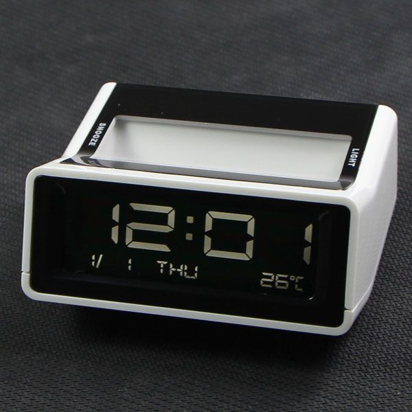 ISAAC AQ-32R Mute Small Bedside Alarm Clock