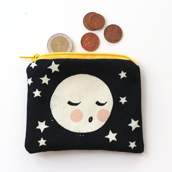 Brid purse Moon print fabric by Yamok on Etsy