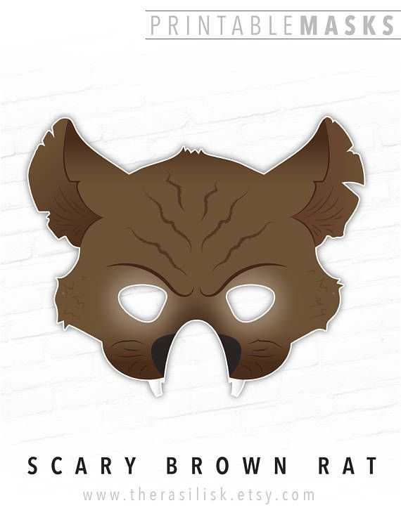 Trend Halloween Mask Scary Brown Rat Street Sewer Rat Rodent