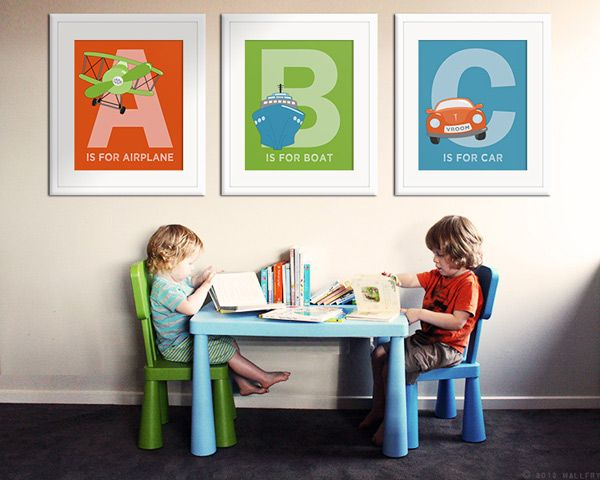 12 best alphabet prints for the nursery from Etsy