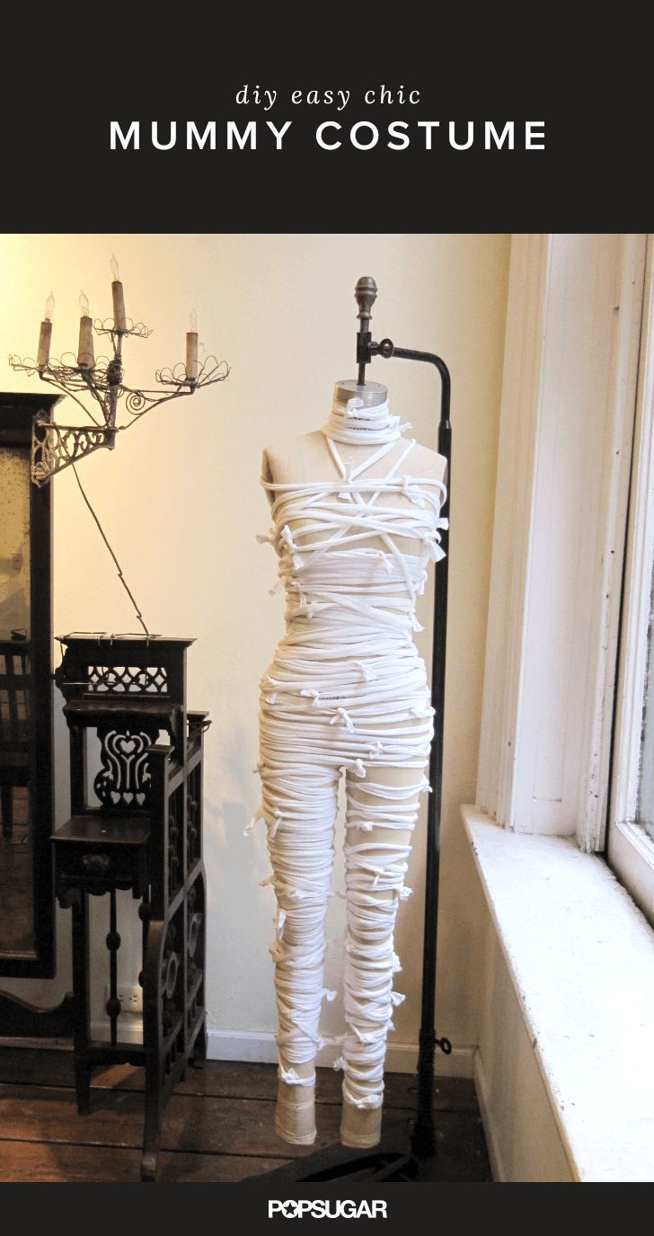 You'll never believe how easy it is to make this mummy Halloween costume!