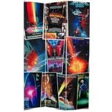 6 ft. Tall Double Sided Star Trek Movie Posters Room Divider Screen