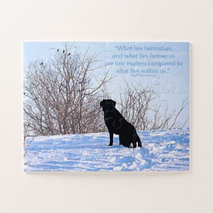 Black Labrador Quote - What Lies Within Us Jigsaw Puzzle - black gifts unique cool diy customize personalize