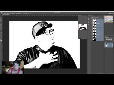 How I break down an image for a multi layer stencil - YouTube
