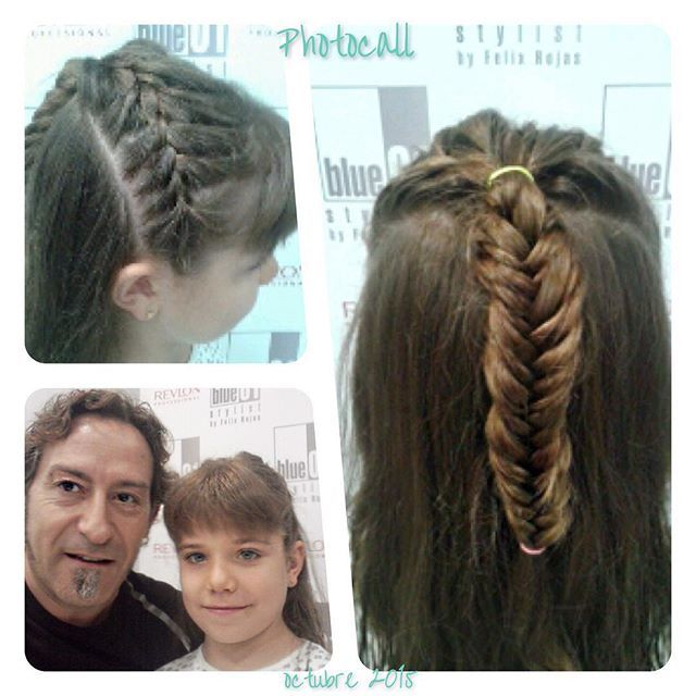 Una trenza fantástica para una chica preciosa. Gracias Jordi del salón de L'Hospitalet.  #blue01stylist #photocall #style #hair #pelo #coolhair #looks #instahair #hairstyle #instadaily #instagood #peluquerias #cabello #peluqueriabarcelona #hairoftheday #h