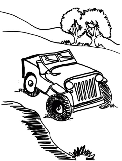 car off road coloring page