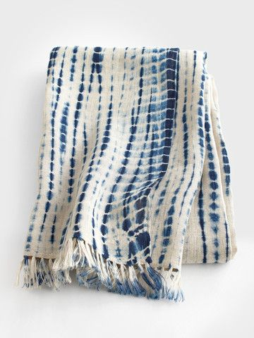 Love this indigo tie-dye scarf by Aboubakar Fofana