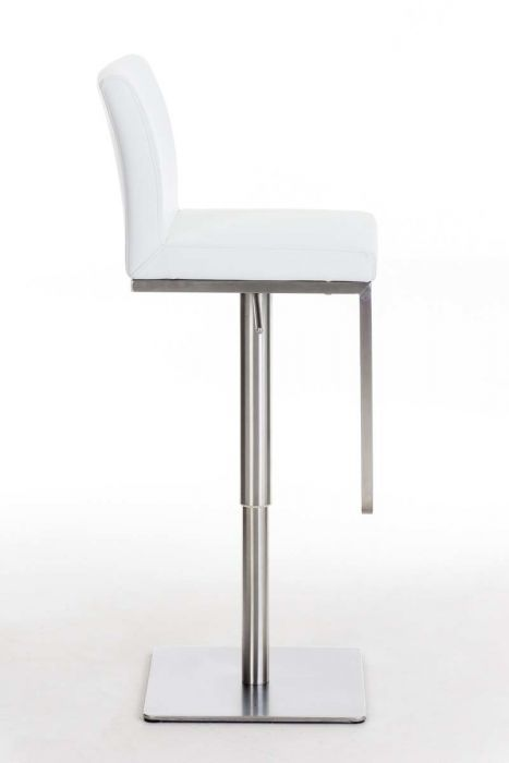 Rvs Barkruk Verstelbare Witte 24designs Jennifer Mat Onderstel Nn0mw8