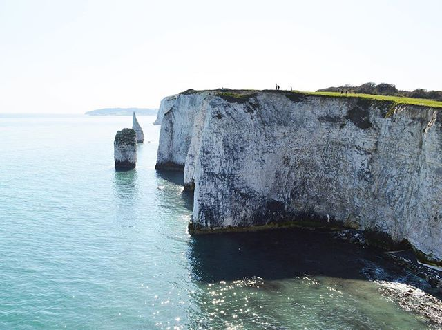 Another view of Old Harry Rocks.  #oldharryrocks #studland #seaviews #chalk #formations #theotherside #sunshine #nature