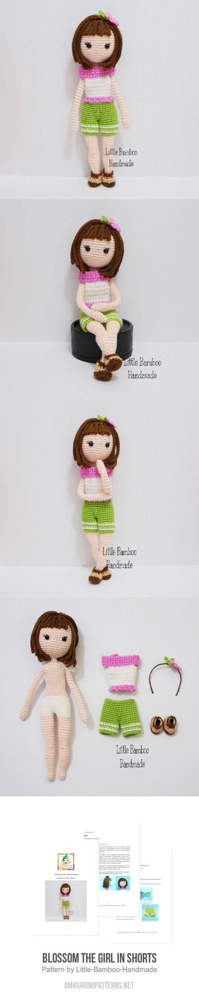 Blossom The Girl In Shorts amigurumi pattern