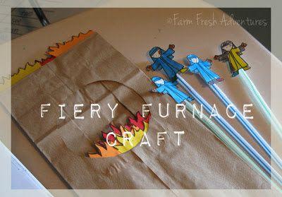 A Fiery Furnace craft from Farm Fresh Adventures