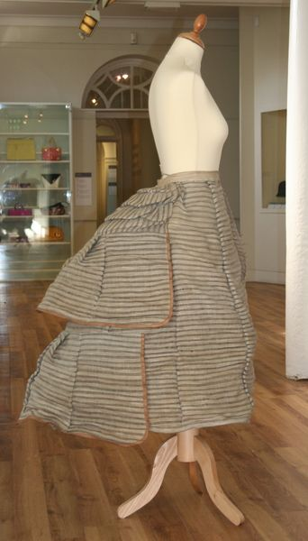 Bustle of horsehair, cotton and steel, 1873-75 (Manchester City Galleries 1947.3712)