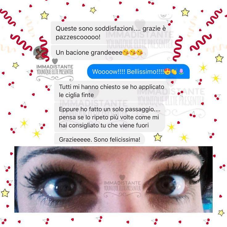 ⭐️��⭐️��⭐️��⭐️��⭐️��⭐️��⭐️��⭐️��⭐️��⭐️ ��Ecco cosa succede quando provi il #mascara #Younique!!!!��♥️�� È #IMPERDIBILE!!!! Tutte le #donne devono assolutamente averlo nel proprio #beauty!!!!�� Grazie ancora Gabriella !!!! ������#love #mamma #waterproof #youniquemakeup #makeup #moda #bellezza #style #estate #amore #occhi #trucco #followme #cigliafinte #ciglialunghissime #Ciglia #picoftheday #pictureoftheday #chanel #belen #…
