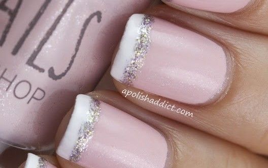 Glittered French Nails: )