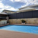 Black colorbond looks awesome, especially in the pool area. See more at https://fencemakeovers.com.au