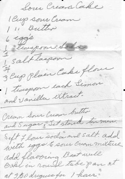 Grandma's recipes she saved