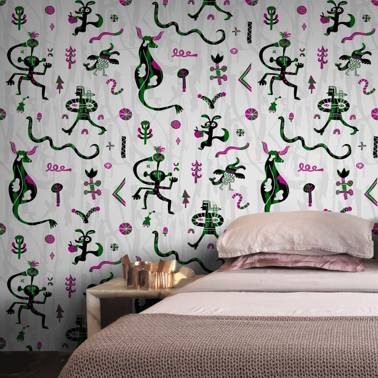 Friends by Hanna Ruusulampi on Feathr.com  #patternsfromagency #patternsfromfinland #pattern #patterndesign #surfacedesign#hannaruusulampi