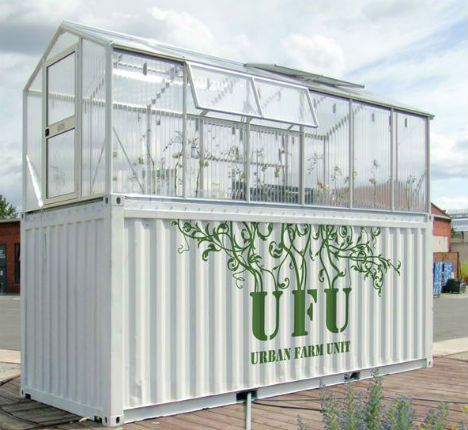 Urban Farm Unit is s great Urban Agriculture option. I could see these taking over an old parking lot.