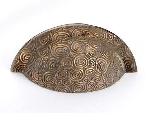Antique Brass Nautilus Drawer Pull