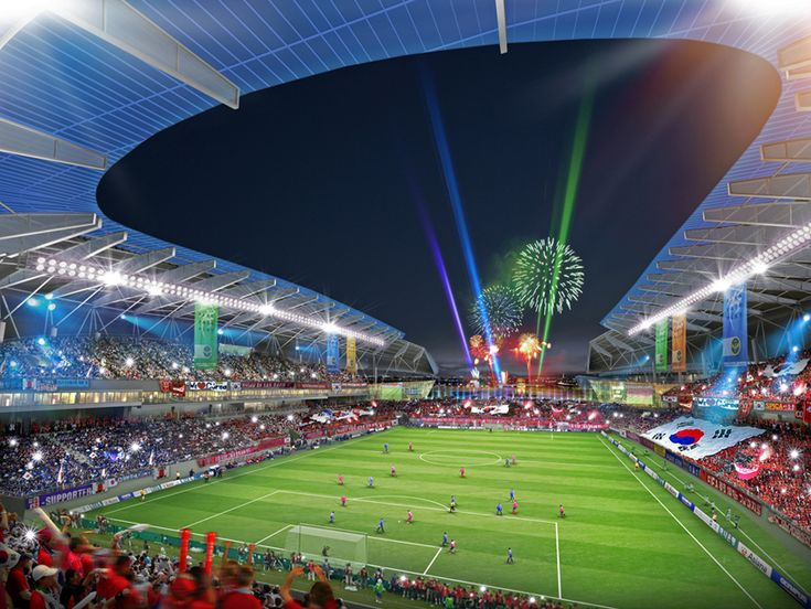 rossetti architects: sungui arena park soccer stadium