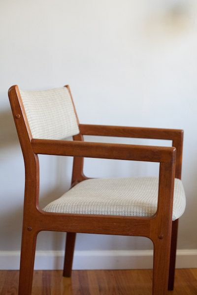 Dscan danish side chair wooden arm chair dining by for Wood dining chairs with arms