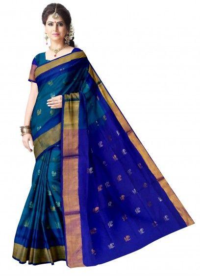 Ananda Blue Uppada Handloom Silk Saree & Blouse Product code: UHSUP8S070 Retail price: 5,798/- Sale price : 5,522/-