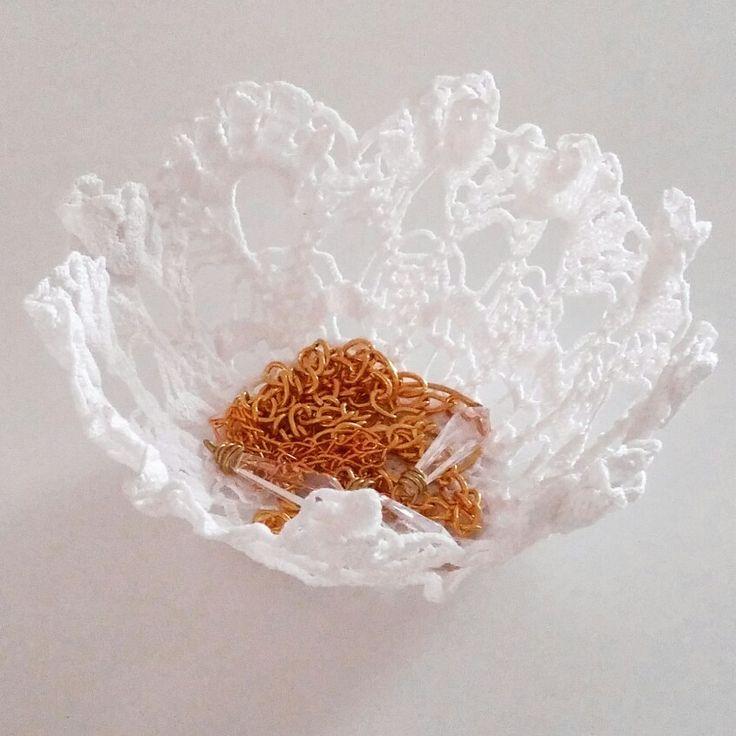 csipke tál / lace bowl