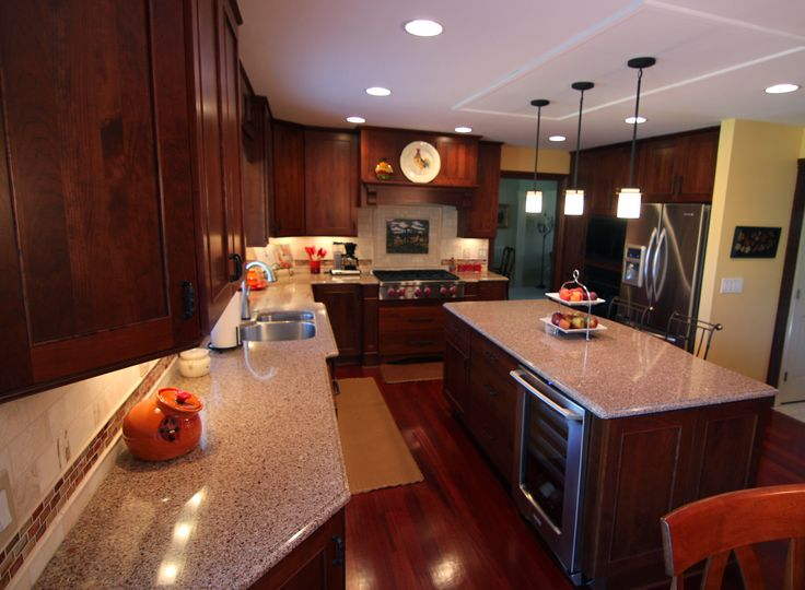 Dura Supreme Crestwood Kitchen With Dura Designer Hutch Area Designed By  Mans Kitchen U0026 Bath Department